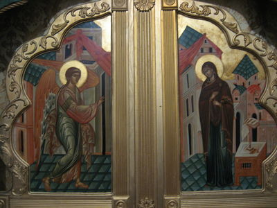 Annunciation Icon on Royal Doors