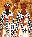Ss Athanasius and Cyril, Archbishops of Alexandria.